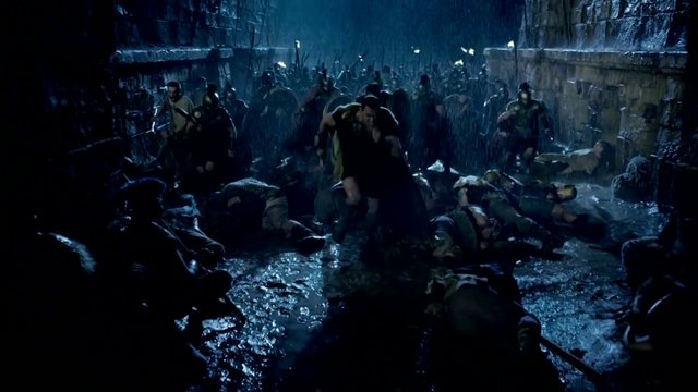 Soldiers just decided to turn side when Hercules' army arrived at the gate. How convenient! Photo credit: vimeo.com
