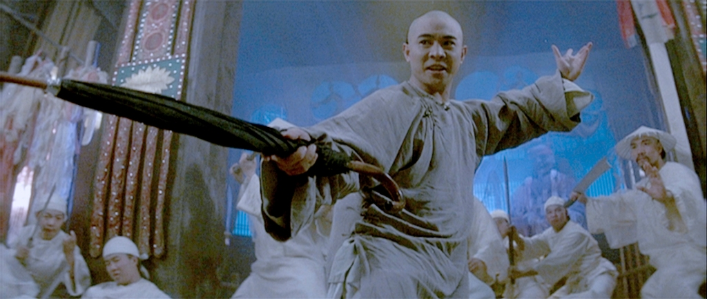 "Scene from ""Once upon of time in China"", where Jet Li fights with his umbrella.  Photo source: drunkensword.wordpress.com"